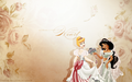 disney-princess - Jasmine and Cinderella wallpaper