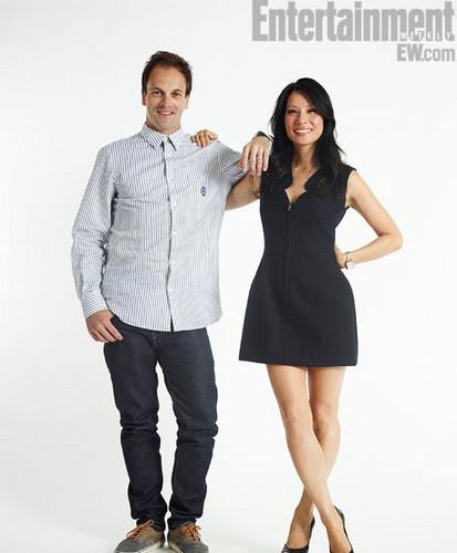 Jonny Lee Miller & Lucy Liu EW