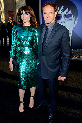 Jonny Lee Miller and wife Michele Hicks
