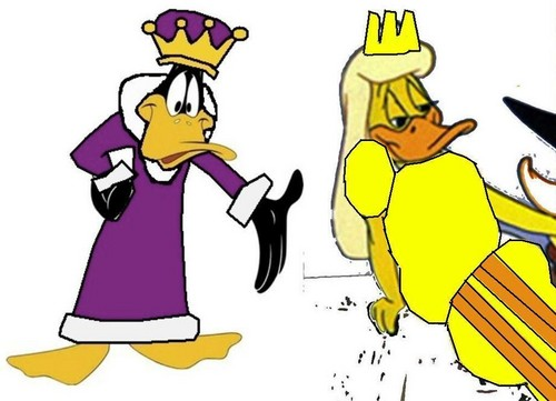 King Daffy pato and queen Melissa pato