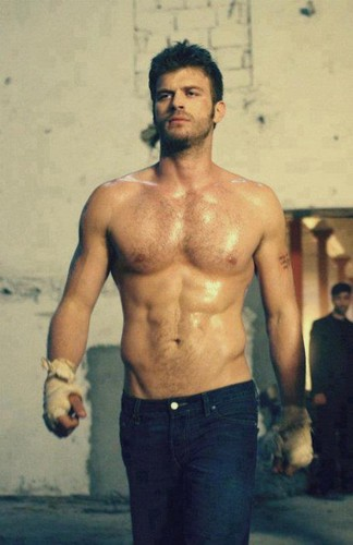 Hottest Actors wallpaper with a hunk entitled Kivanc Tatlitug's muscular body
