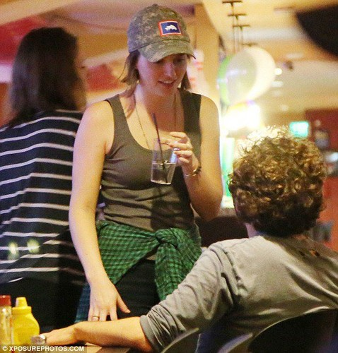 Leighton Meester out with Friends at PinzBowling Alley California