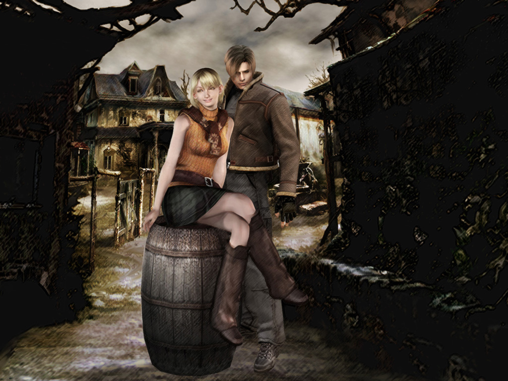 Leon and Ashley پیپر وال