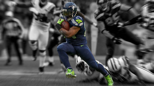 Marshawn Lynch Seahawks kertas dinding