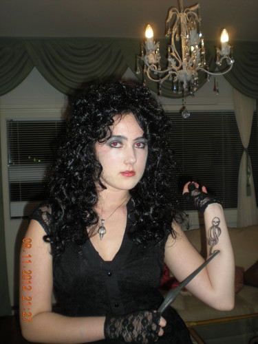 Me as Bellatrix this Halloween:)