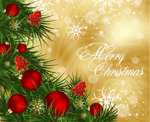 Christmas wallpaper with a bouquet titled Merry Christmas