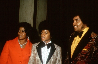 "Michael And His Parents At The 1973 ""Golden Globe"" Awards"