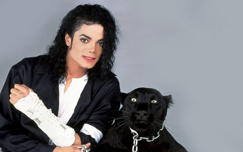Michael Jackson wallpaper probably with a panther called Michael ♥