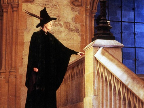 Hogwarts Professors wallpaper possibly with an academic gown and a cloak titled Minerva McGonagall Wallpaper