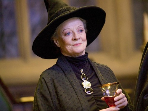 Hogwarts Professors wallpaper with a fedora and a boater titled Minerva McGonagall Wallpaper