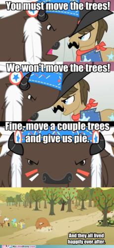 移动 a couple of trees and give us pie!