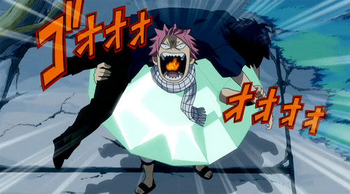 Natsu and a Wounded Gray