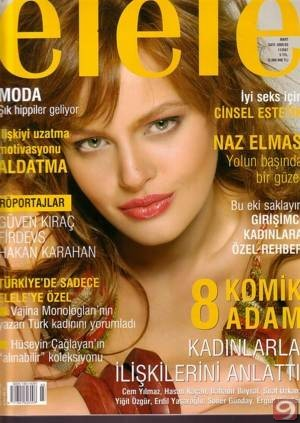 Naz Elmas on the cover of Turkish magazine Elele