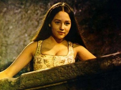 "Olivia Hussey looking down from Balcony, in ""Romeo & Juliet,"" 1968"