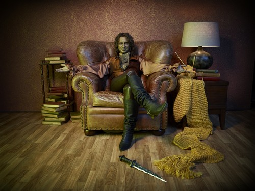 Once Upon A Time wallpaper possibly containing a living room, a family room, and a throne titled Once Upon a Time - Season 2 - Cast Promo Photos- Rumpelstiltskin