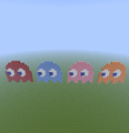 Pac-Man ghosts. - minecraft-pixel-art fan art