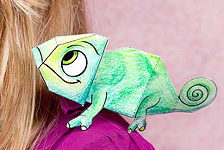 Pascal the Origami Chameleon