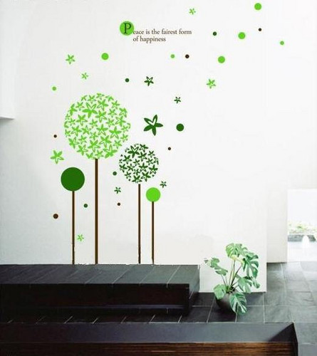 Peace is Fairest Form of Happiness fleur Ball and étoile, star mur Sticker