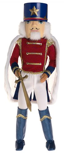 Barbie in the Nutcracker wolpeyper possibly with a surcoat titled Prince Eric as a nutcracker doll