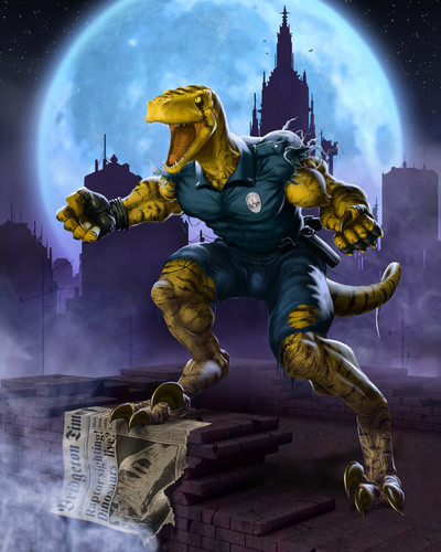 Dinosaurs wallpaper called Raptor Cop