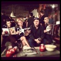 Reading on set - glee photo