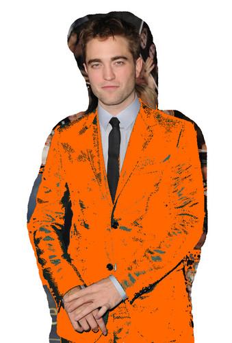 Robert Pattinson in an Orange Suit (Fake)