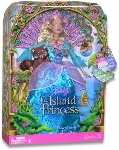 Barbie as the island princess achtergrond titled Rosella doll