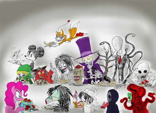 Slender Man and other creepypasta characters