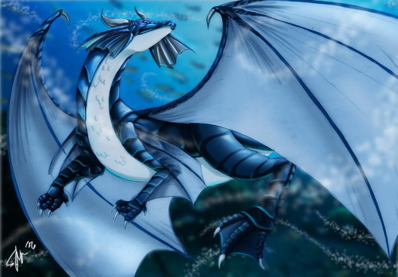 water magic dragon girl - photo #20