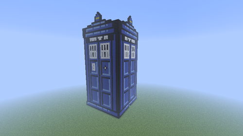 Minecraft(マインクラフト) Pixel Art! 壁紙 possibly with a 超高層ビル entitled TARDIS