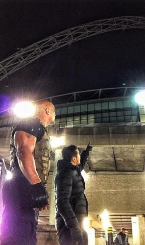 The Rock hits Wembley Stadium!