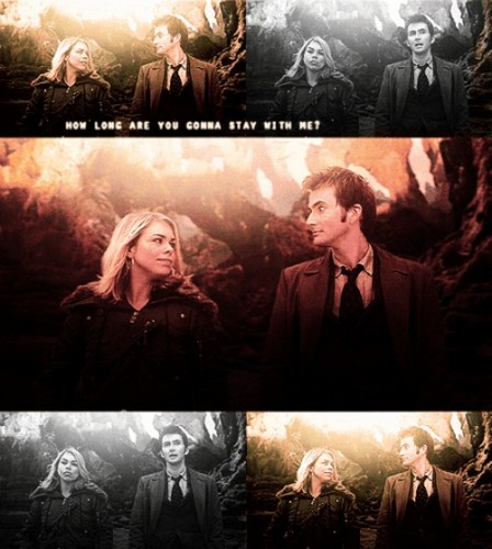 doctor who fondo de pantalla entitled Ten X Rose <3 <3