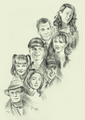 The NCIS Gang - ncis fan art
