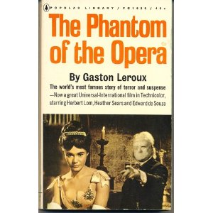 The Phantom of the Opera Gaston Leroux 1962 Movie Tie-in Cover