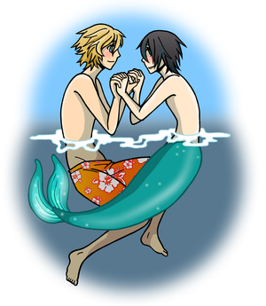 The Surfer and the Merman