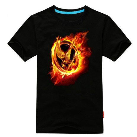 The hunger game short sleeve T camisa, camiseta