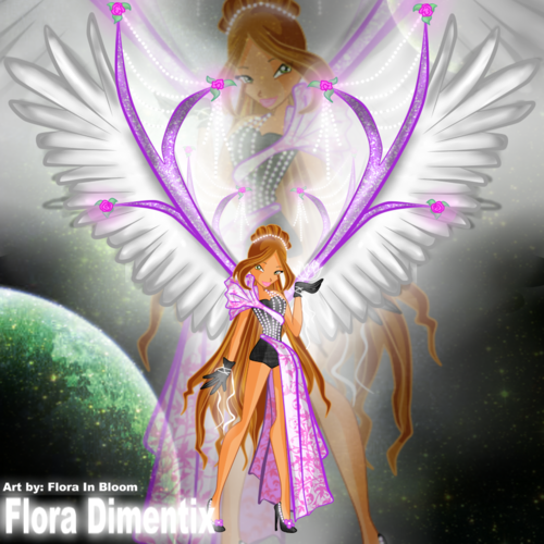 o clube das winx wallpaper entitled The rare pic I found!!! Flora Dimentix