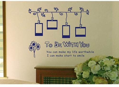 To Be With toi photo Frame mur Sticker