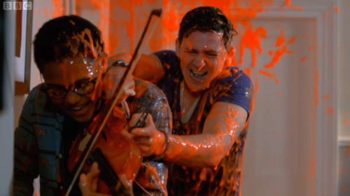 Tom and Benny are covered in Grazlax Slime! :D