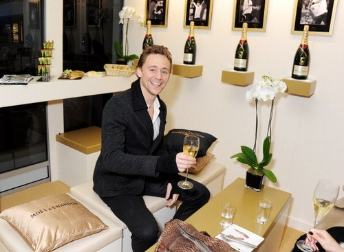 Tom at the ATP World finals Suite Moet & Chandon