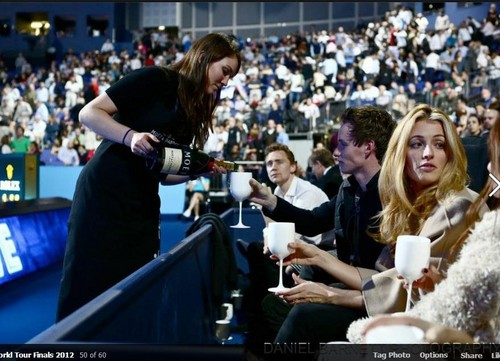 Tom at the ATP World finals Suite Moet & Chandon