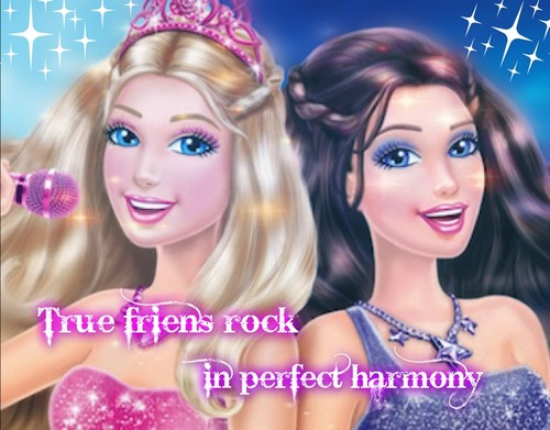 Barbie the Princess and the popstar wallpaper containing a portrait entitled Tori and Keira