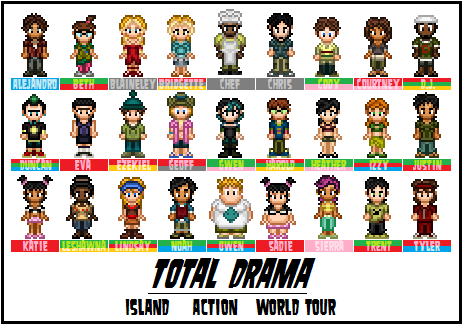 Total Drama Island kertas dinding called Total drama cast