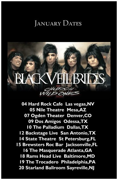 Brides Tour Dates Black Veil 52
