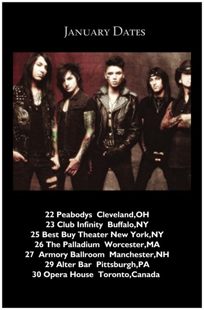 Black veil brides tour dates
