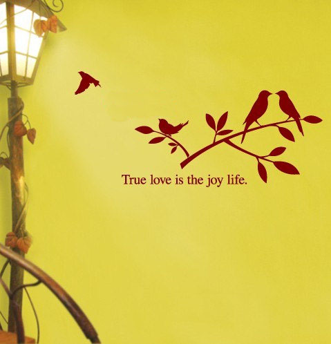 True Cinta is the Joy Life dinding Sticker