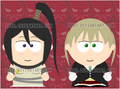 Tsubaki and Maka in South Park drawing  - soul-eater fan art