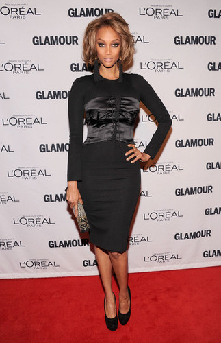 Tyra at the Glamour Women of the tahun Awards