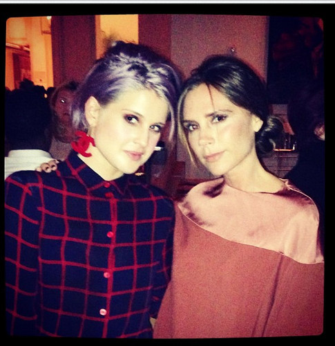 Victoria and David Beckham with kelly Osbourne - Nov. 8, 2012
