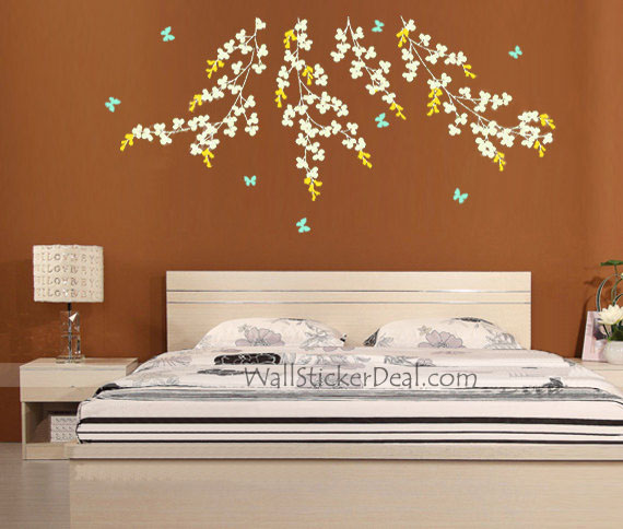 Vine And Butterfly Wall Stickers Home Decorating Photo